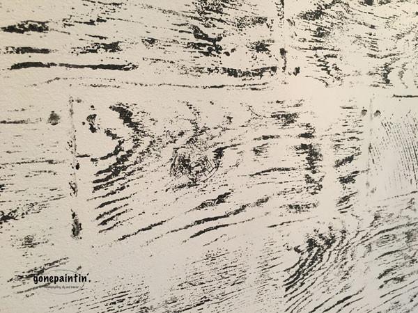 Balkenoptik für die Wand mit IOD Stempel