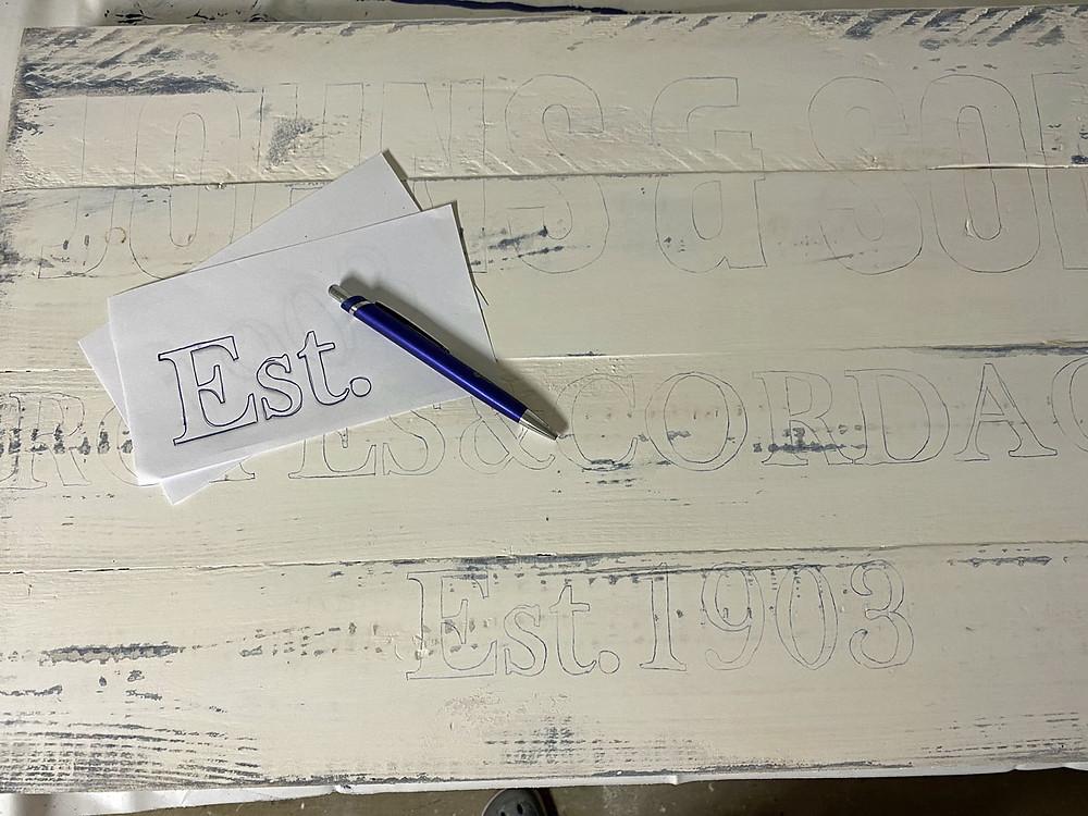 Schrift auf Holz übertragen