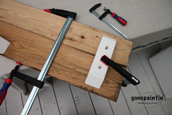 Holzbank selber bauen mit Altholz