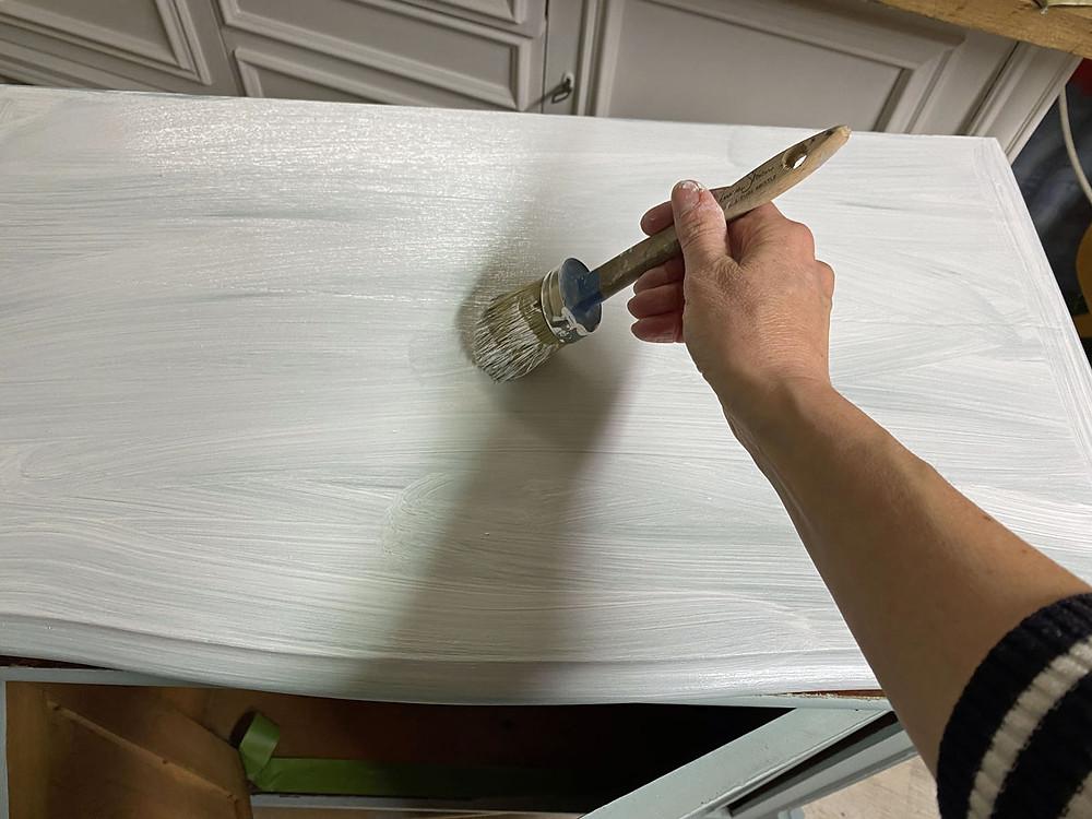 Layering Technik Möbelstreichen