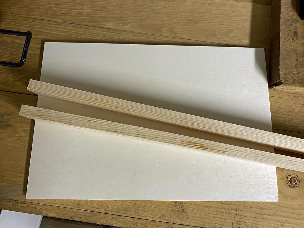 Material für DIY Holztablett