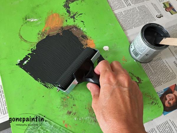 Kreidefarbe für die Wand mit IOD Stamps
