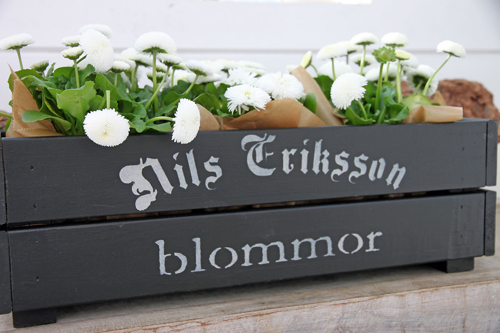 Blumenkiste mit Schablone und Fusion Mineral Paint