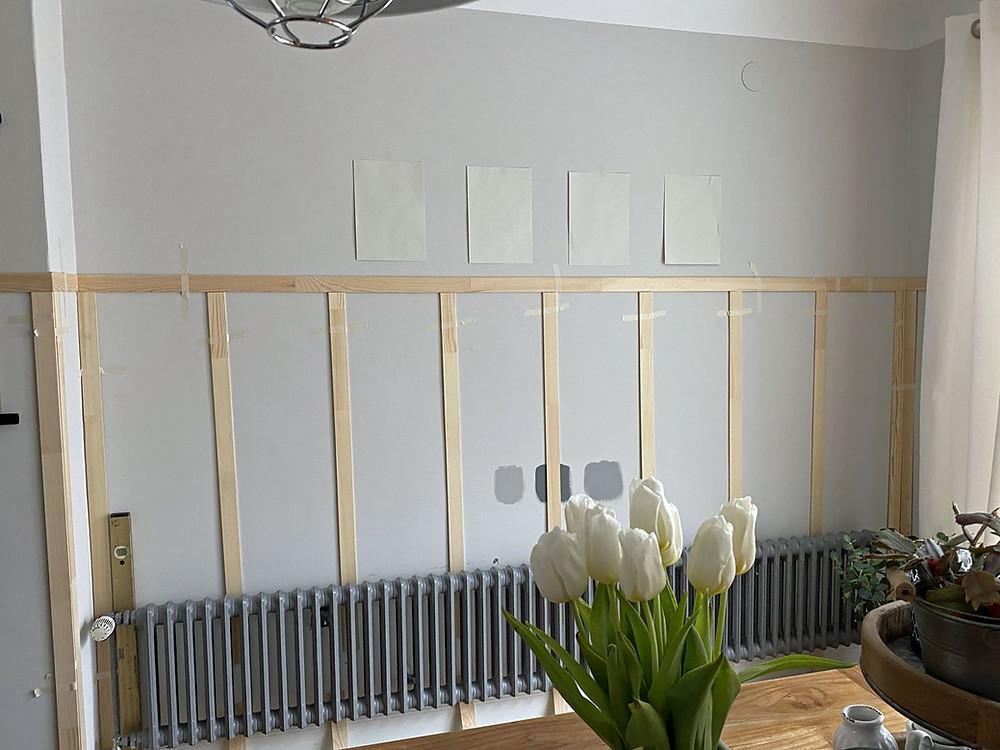 DIY Wand Täfelung selber anbringen