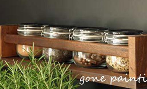 Umgestaltung Küche mit Tafellack und Ikea Regal