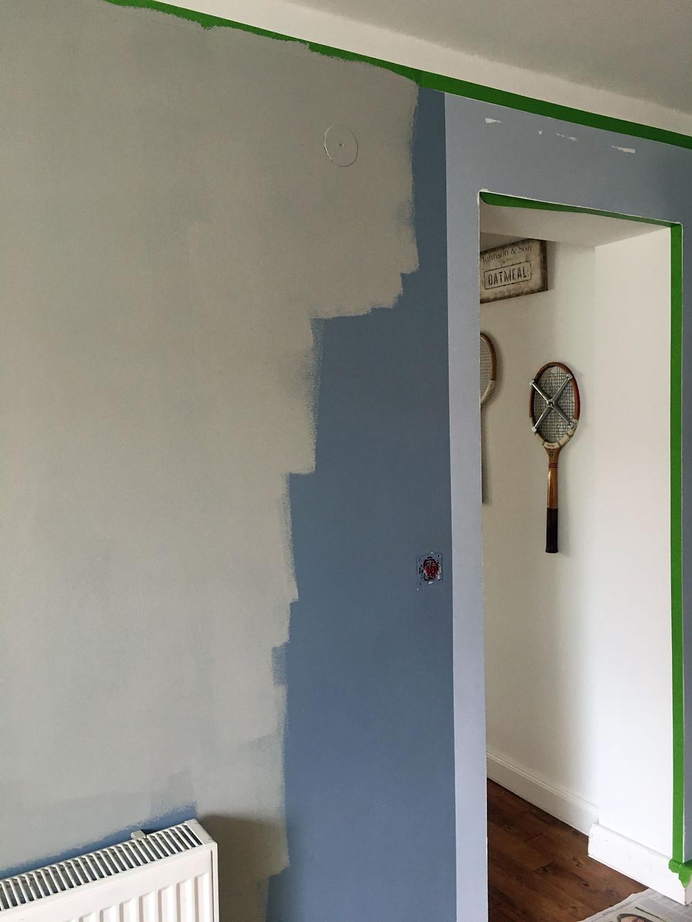 Kalkfarbe für die Wand