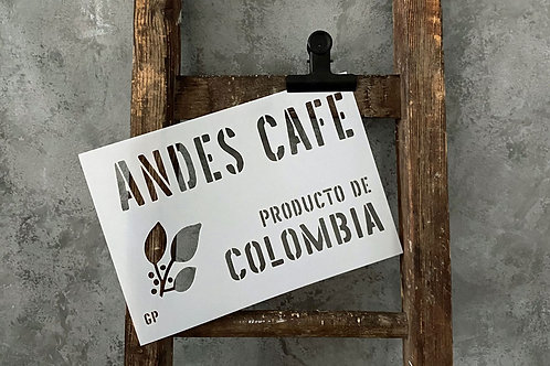 Schablone Andes Cafe Teil 1