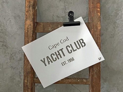 Schablone Yacht Club