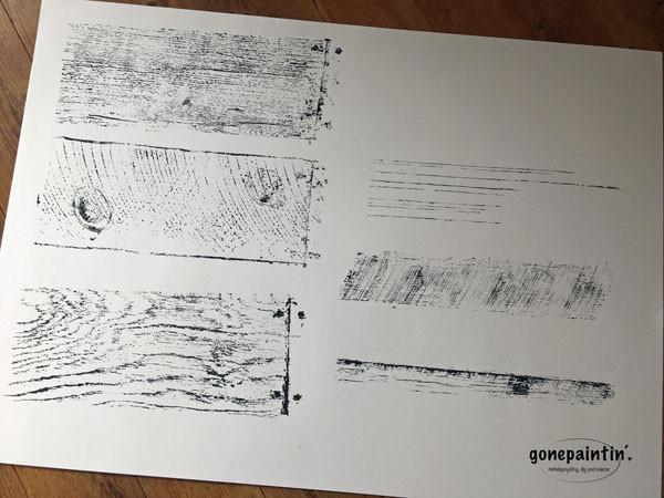 Stempel Muster für die Wand