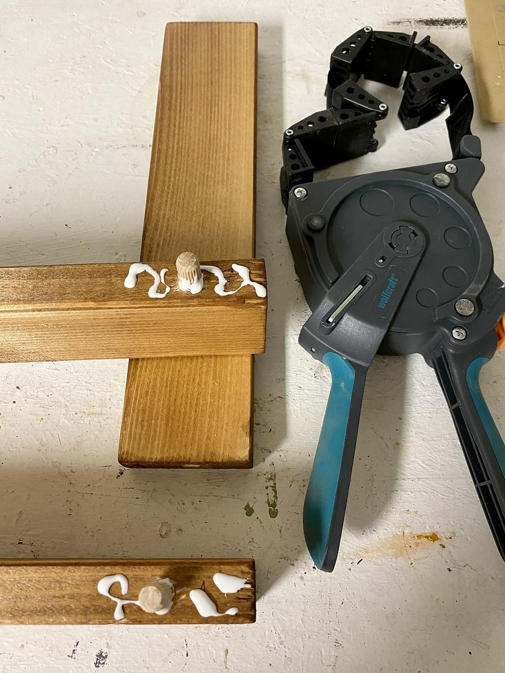Holz verleimen für Rahmen