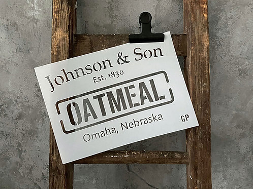 Schablone Oatmeal