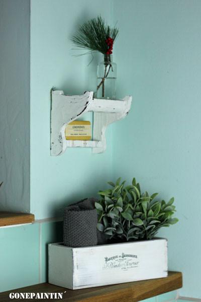 Mini Regal aus Pfeifenhalter Ein Möbelupcycling Projekt