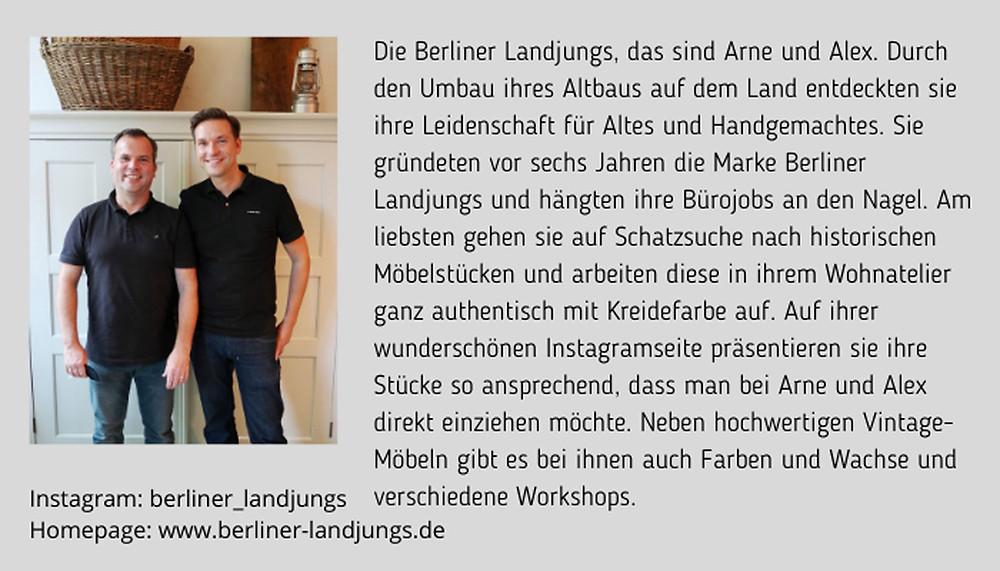 Alex und Arne von Berliner Landjungs Bio
