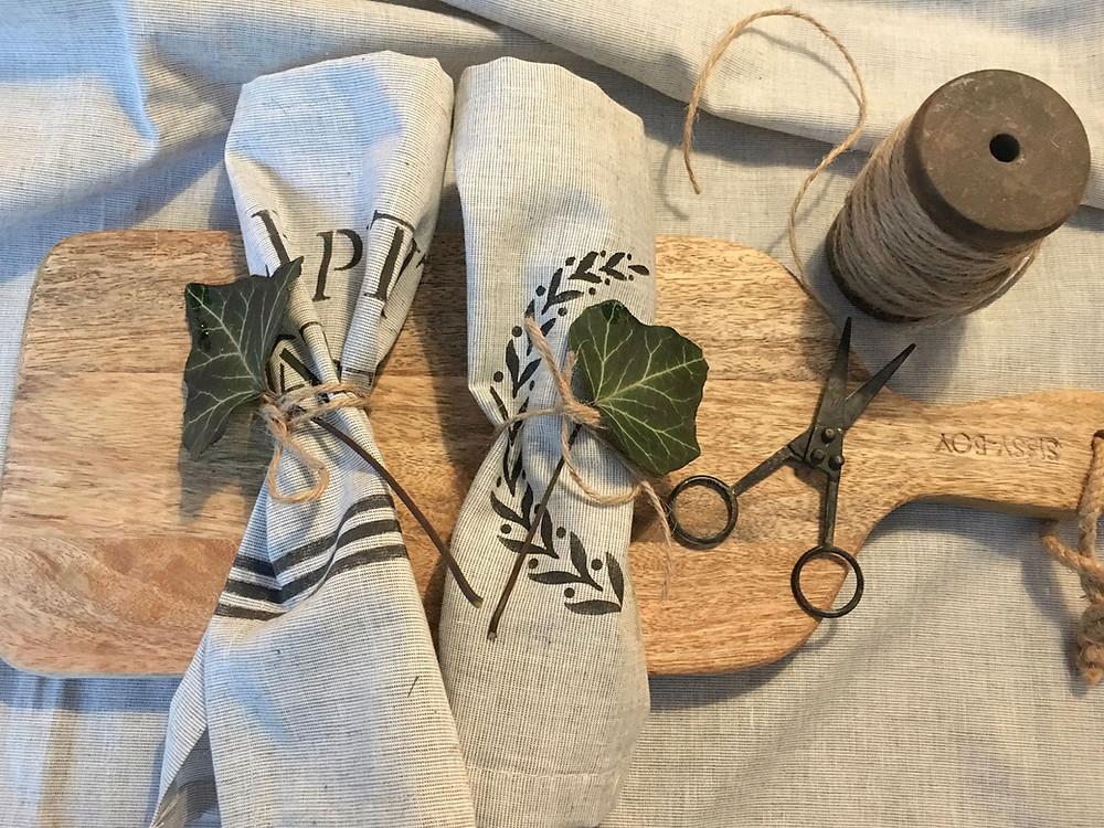 Tischwäsche selber machen DIY im Landhausstil