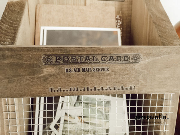 gebeizter Holz Organizer im Landhausstil