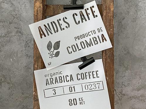 Schablone Andes Cafe zweiteilig