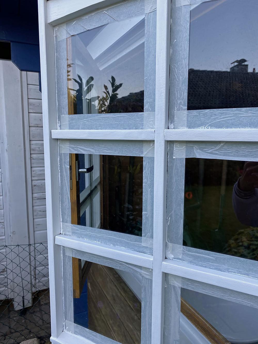 Sprossenfenster streichen