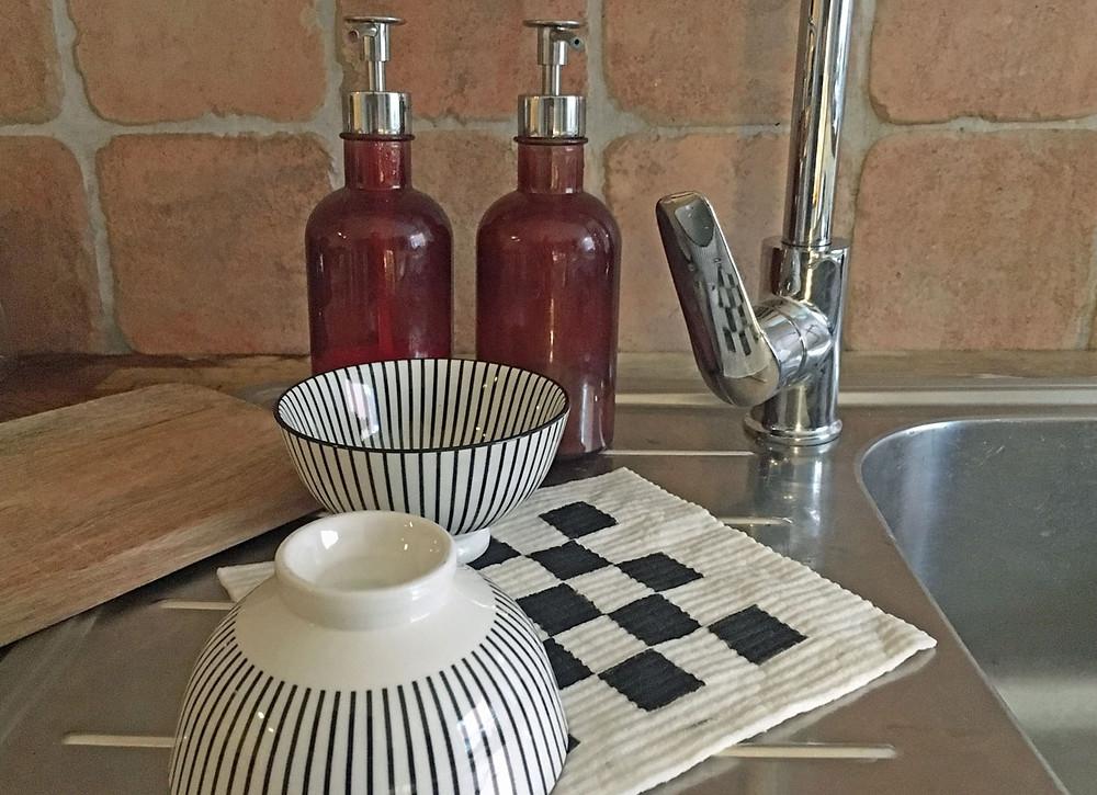 DIY Spüllappen für die Küche mit Schablone