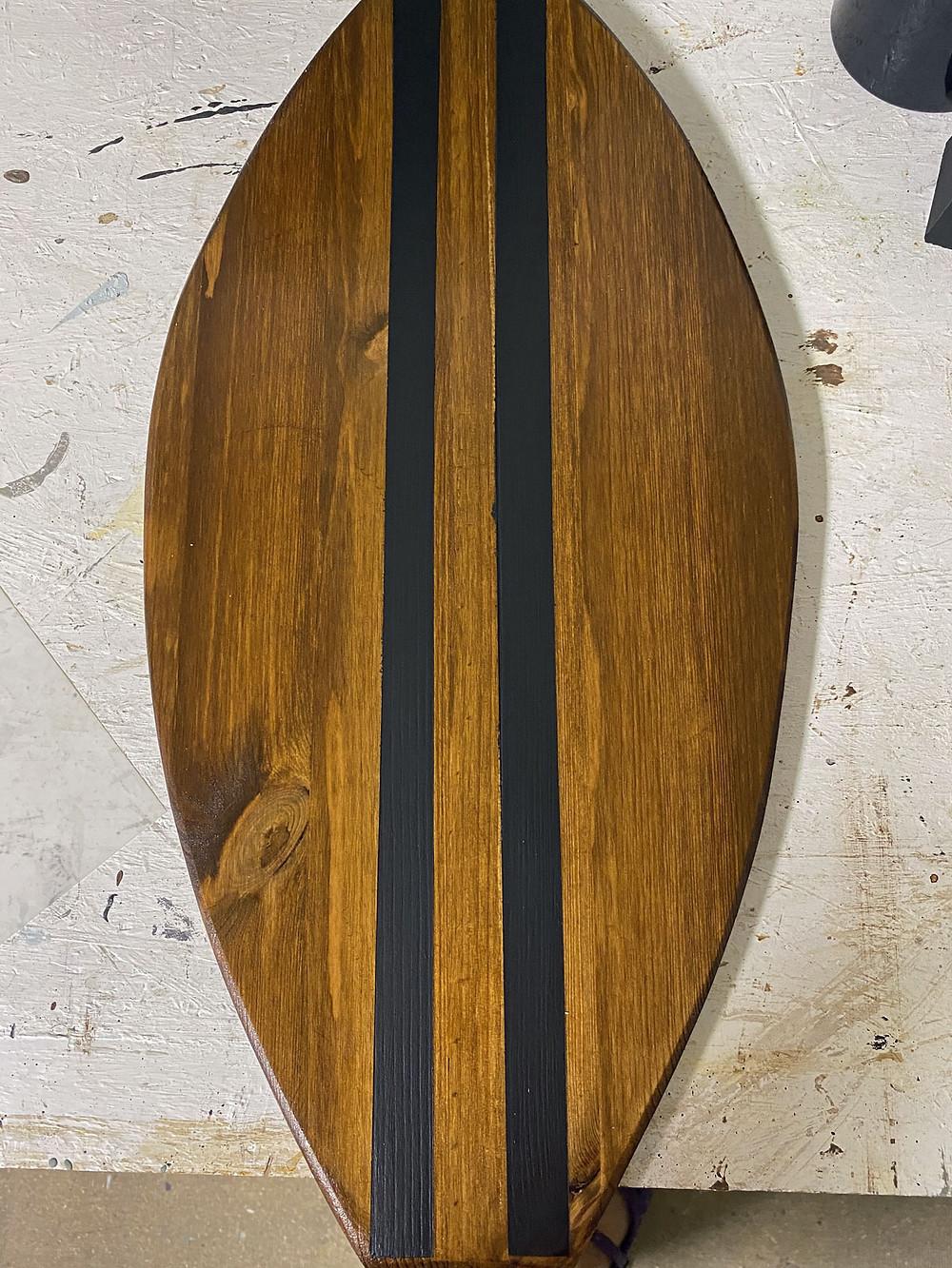 Deko Hakenleiste im Surfbrett Stil