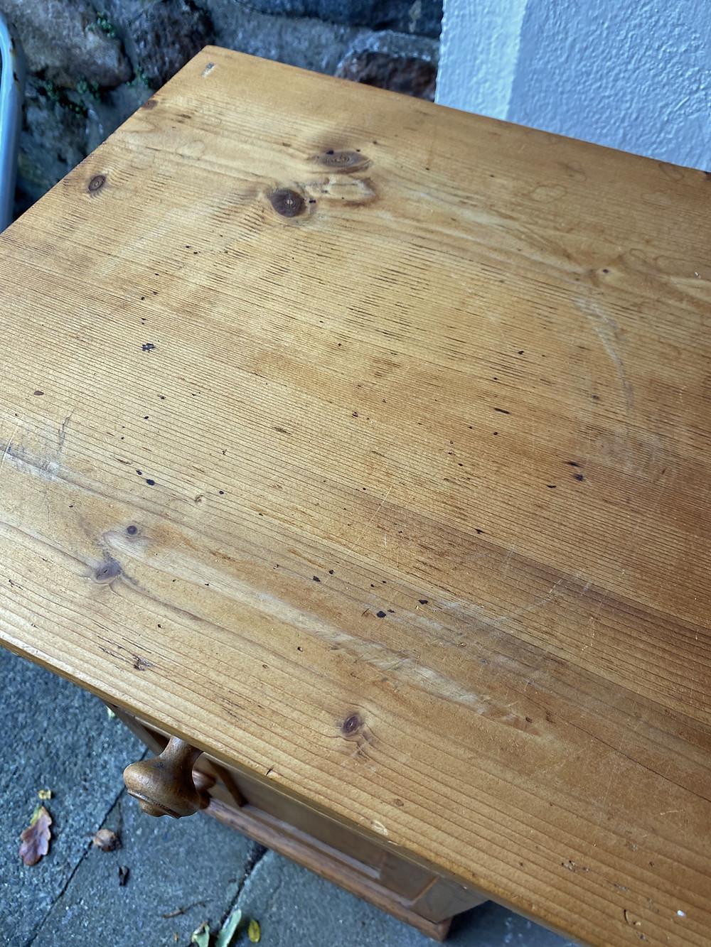 Deckplatte abschleifen Möbel aufarbeiten