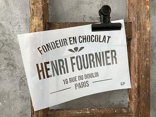 Schablone Henri Fournier