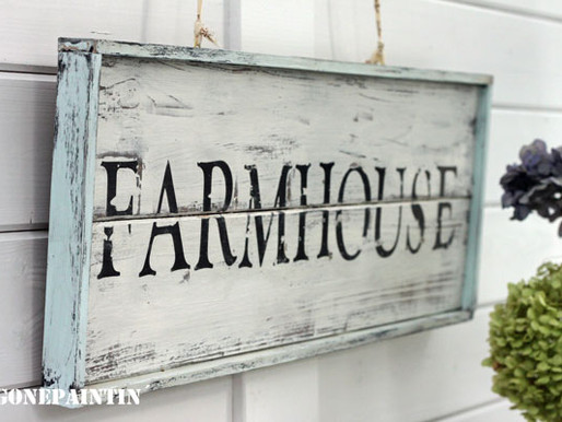 DIY Farmhouse Schild