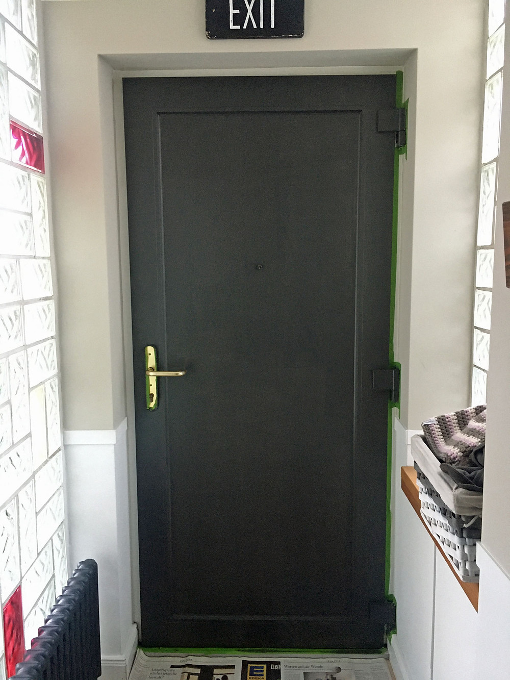 Kreidefarbe für die Haustür
