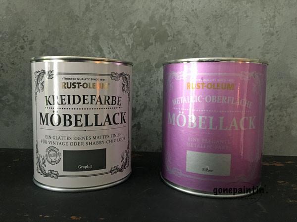 Rustoleum Kreidefarbe für DIY Projekt TV Tisch