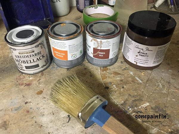 Rost malen mit Kreidefarbe