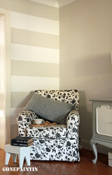 Wandstreifen mit Lignocolor Wandfarbe