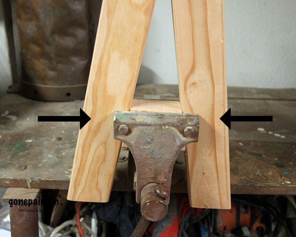 Eine Holzbank selber bauen Anleitung gonepaintin