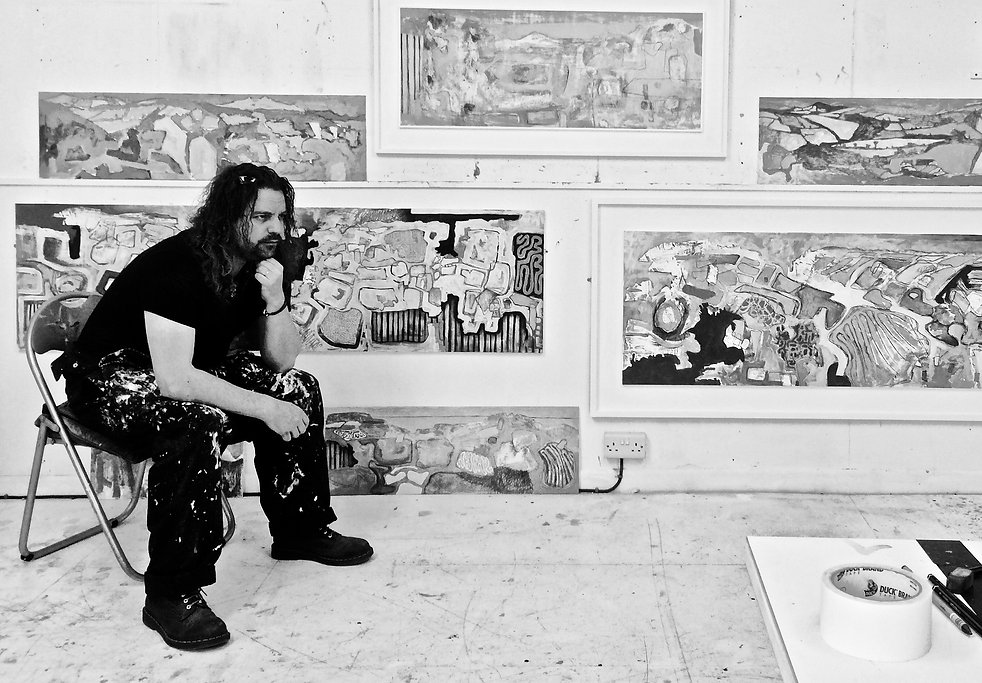 Jason Lilley in his studio