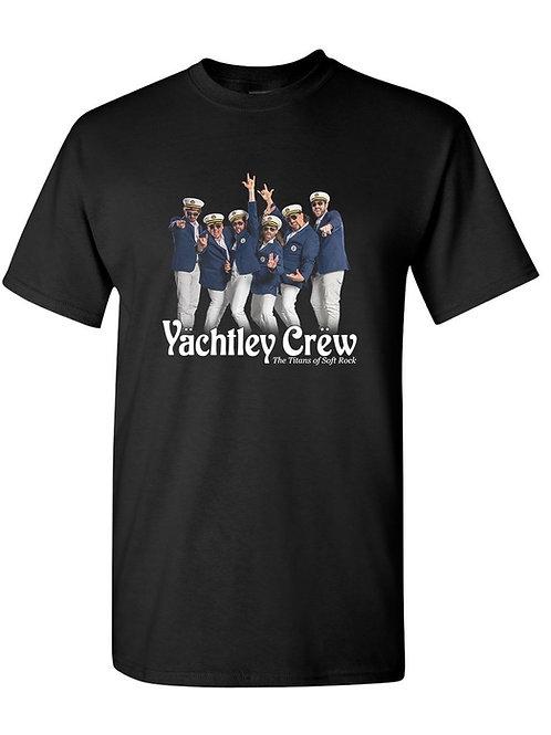 Mens Yächtley Crëw BandBlack  T-Shirt