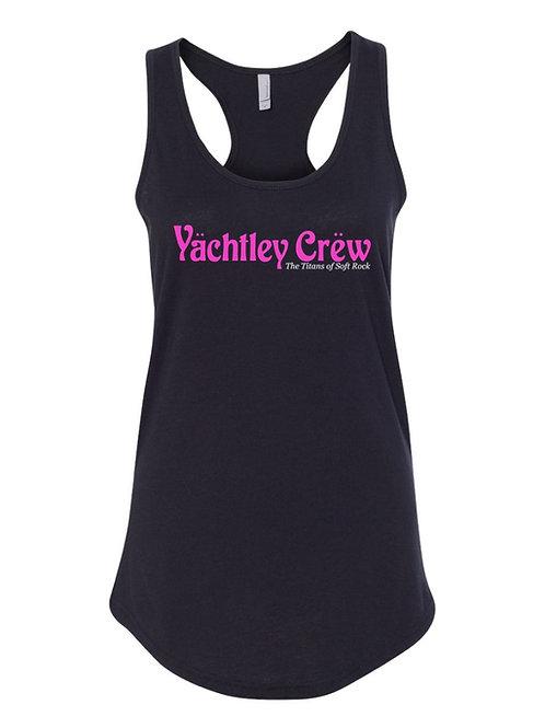 Women's Pink Yachtley Crew Logo Racerback Tank Top