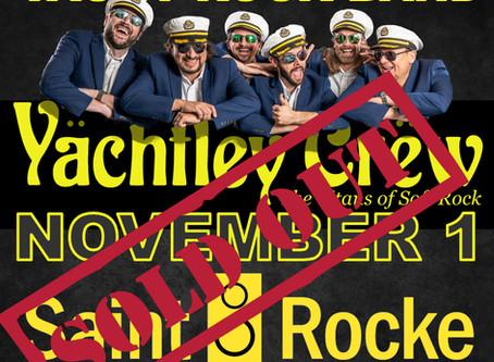November 1 Show at Saint Rocke Hermosa Beach.