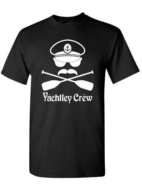 Mens Yächtley Crëw Cross Oars Black T-Shirt