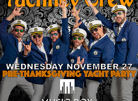 SAN DIEGO! WEDNESDAY NOVEMBER 27. PRE-THANKSGIVING YACHT PARTY