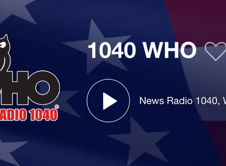 Yächtley Crëw Live interview on WHO NEWSRADIO 1040 Des Moines this Saturday Sept 7 at 8am CDT