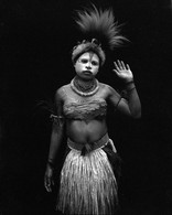 Young Papua young NewGuinea Lowland tribesgirl