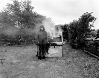 Burning fruit machine 1972