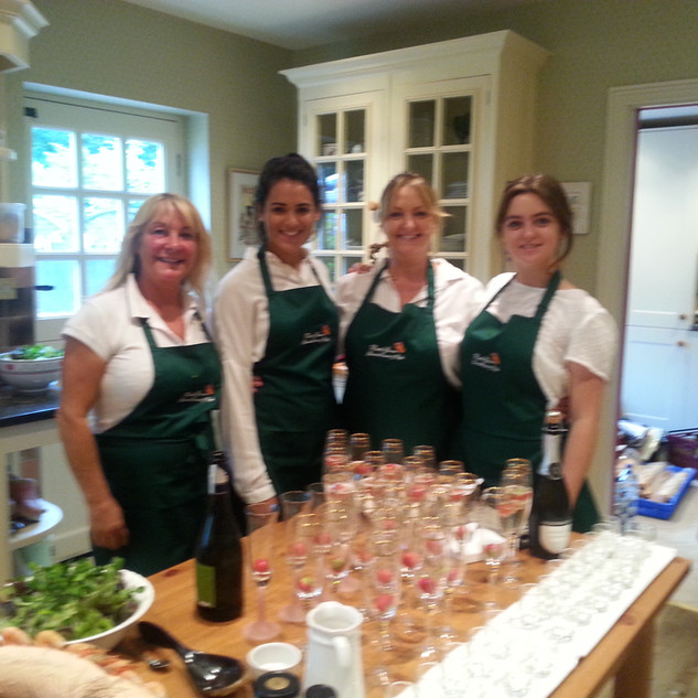 outside catering team