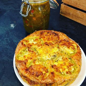Tart with Homemade Tomato Chutney
