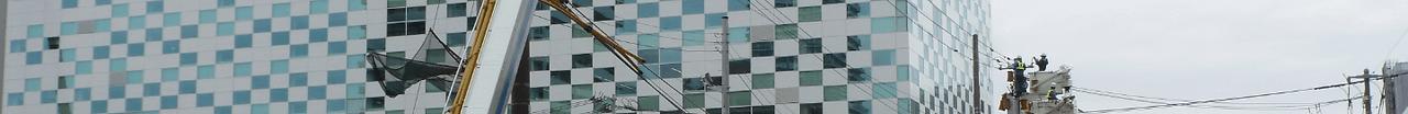ほくでんビル前の作業風景