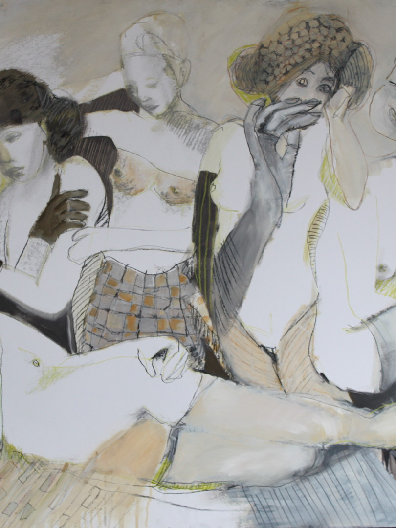 about girls 100x120 cm mixed media