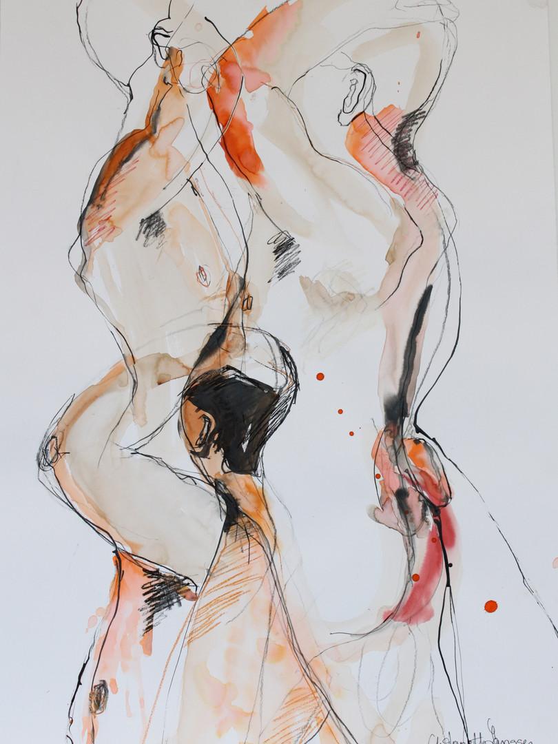the boys 60x70 cm inkt op papier