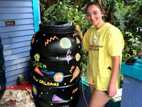 NOLA ASB 2020 - Painting Rain Barrels