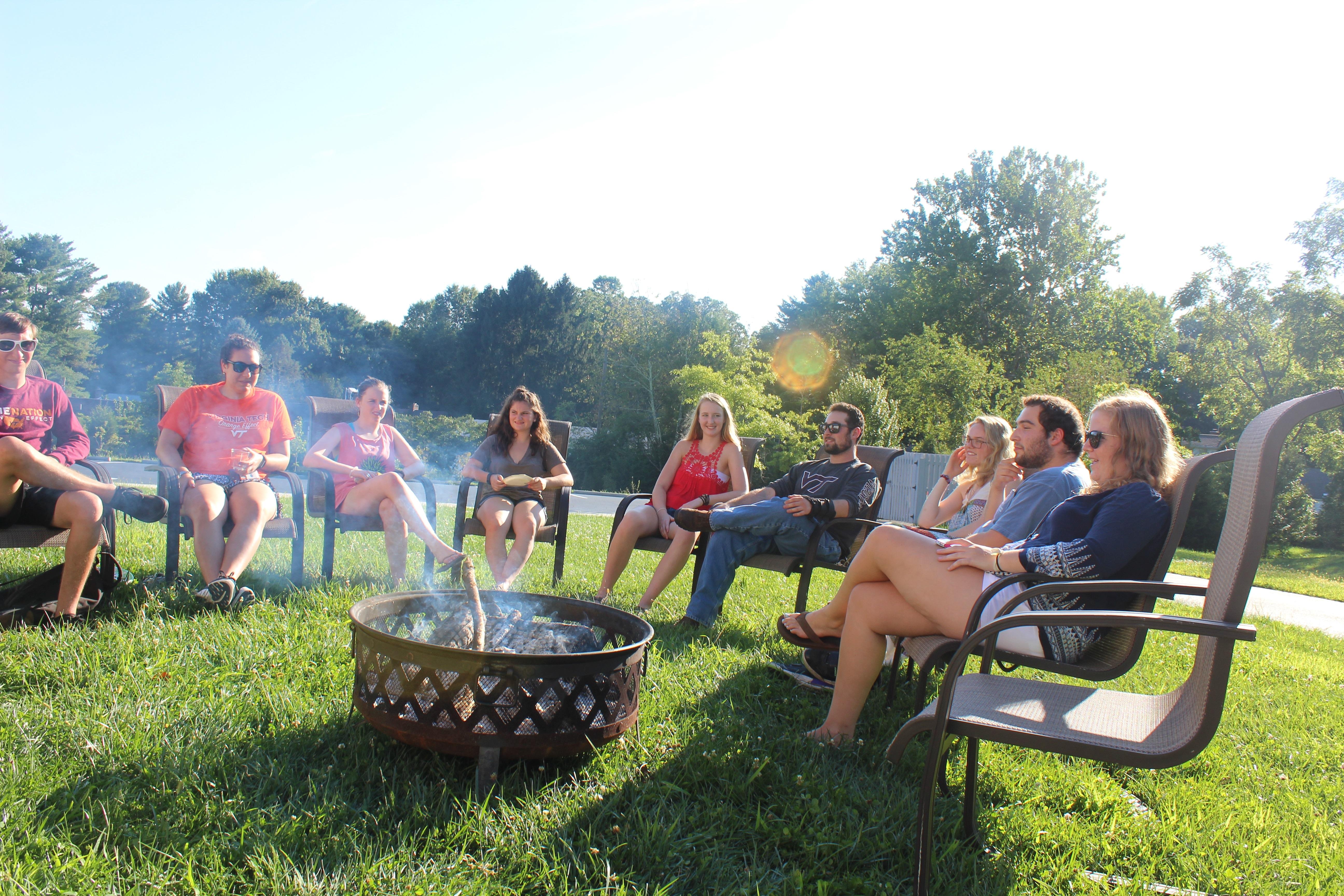 FreshFest bonfire 2017