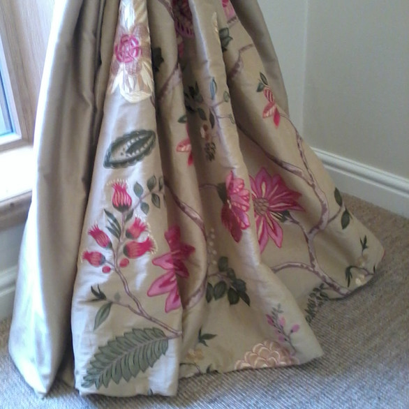 draped silk curtains by Orchard