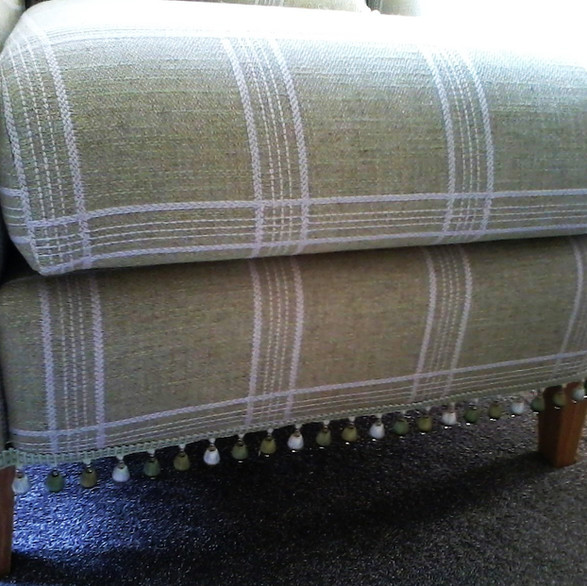 upholstery using Colefax & Fowler fabric & trimming by Orchard