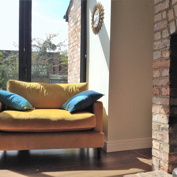 bespoke snuggler sofa by Orchard
